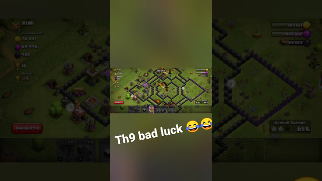 clash of clans | TH9 bad luck | #coc #game