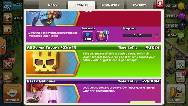 clash of clans all super troops 70% offer | sk myself gaming