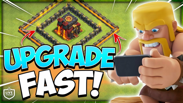 How To Upgrade Walls Fast! Live TH10 Farming in Clash of Clans
