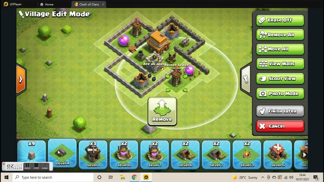 new th4 base on clash of clans (tutorial)