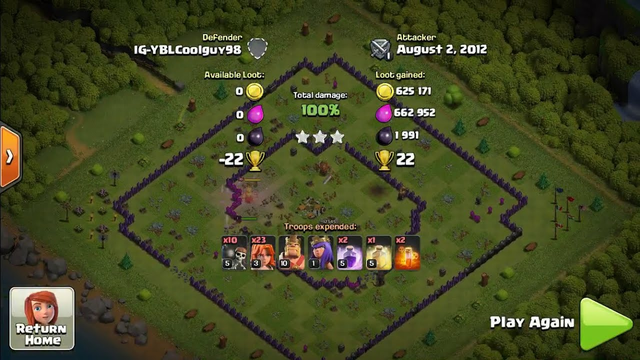 Valkyries attack on TH9 | 3 Stars | Clash of Clans (2021)