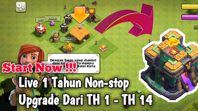 Clash Of Clans Play 356 Day Upgrade Th 1 - Th 14