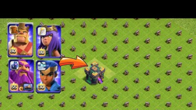 Max Heroes And pet Vs 1 Level cannons |Clash Of Clans |