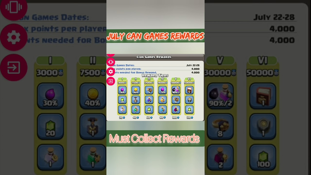 CLAN GAMES REWARDS JULY 2021 , MUST COLLECT REWARDS clash of clans Tamil #Shan