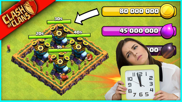 OMG... EVERY AIR DEFENSE IN 40 SECONDS!! (THE MOST OVERPRICED ONES IN CLASH OF CLANS HISTORY)
