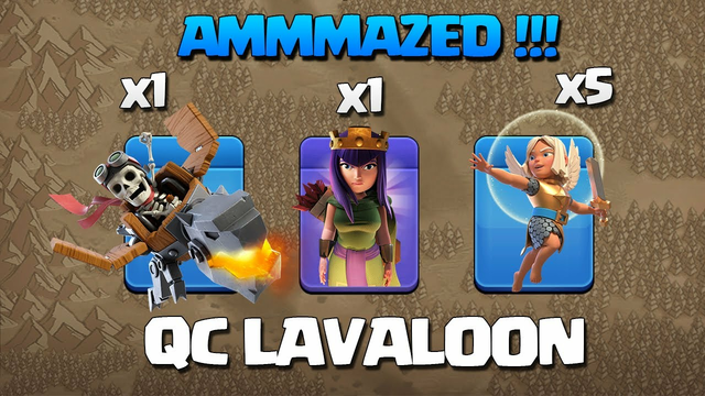 Th11 Queen Charge Lavaloon - Th11 QC LaLo - Best TH11 3 Star Attack Strategy Clash of Clans COC