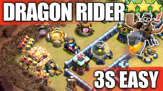 New Troop DRAGON RIDER !!! New TH14 Attack Strategy And 3 Star   Clash of Clans