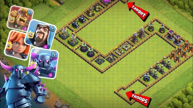 200 Troops Vs Hard Base   Clash Of Clans   Survival Challenge  ! Trap Vs Troops Video 2021