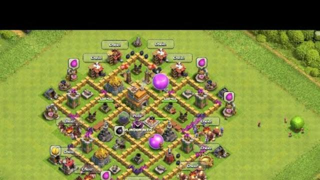 mostrando minha vila no Clash of clans :)