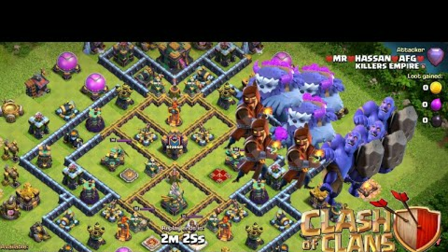 How to attack with Yeti, Bowler and Wizard | part 1 (Clash Of Clans)