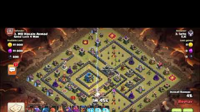 Coc    Clas Of Clan's Town Hall 13 Full War Attacks    Enjoy The Video