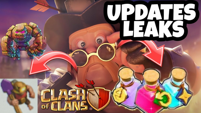 UPDATE LEAKS - CLASH OF CLANS   NEW TROOPS LEVELS   NEW DEFENSE LEVELS   NEW POTION   NEW HERO SKIN