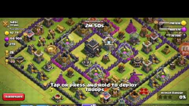 how to dragon attack th9 clash of clans coc