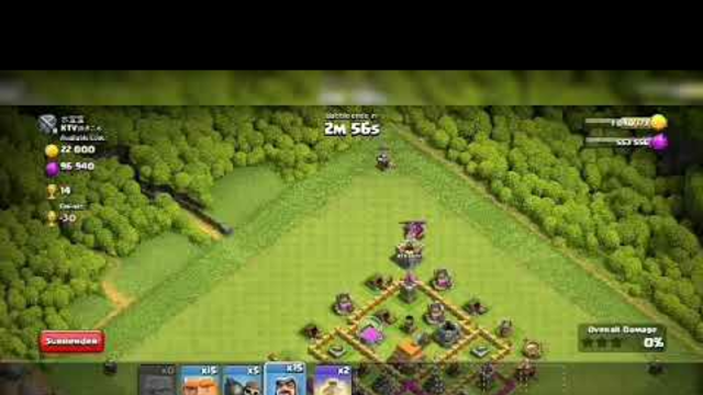 Attacking in clash of clans as a th6