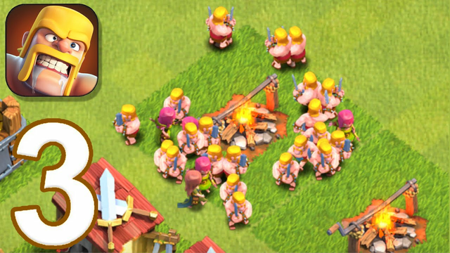 Clash of clans - Gameplay walkthrough episode 3 (iOS,Android)