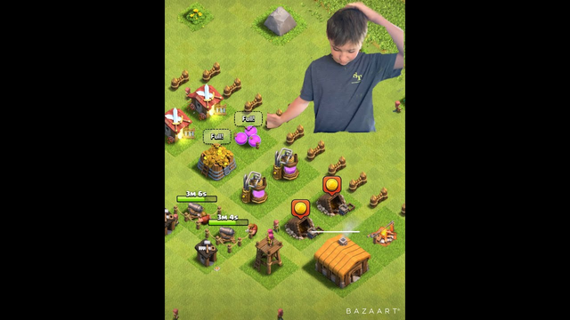I started my clash of clans at TH2!!