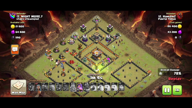 Clash Of Clans   Attack Town Hall 11 Strategy   Golem Pekka Witch