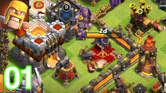 clash of clans attack townhall 11 destroyed   COC episode 01 (IOS, ANDROID)