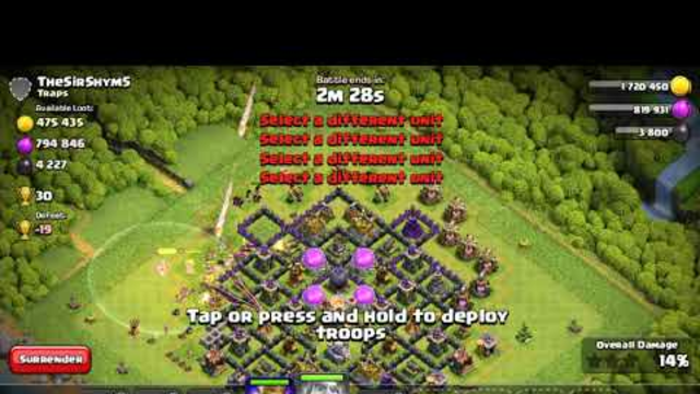 Clash of clans - #73 ll attack ll PC Gameplay On Android Empire gaming