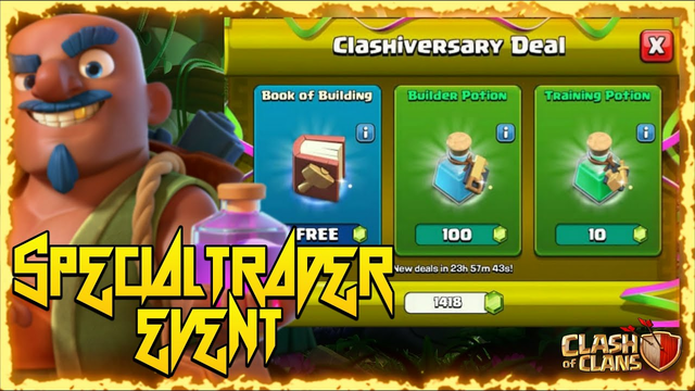 Special Trader Event In Coc Anniversary 2021   Clashiversary Special