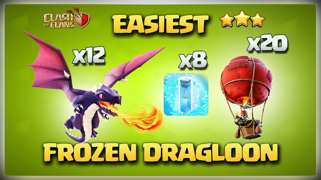 Th14 Frozen DragLoon Attack Strategy - Th 14 Frozen Dragon Attack - Best Th14 Attack Strategy in Coc