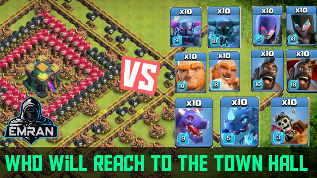 Challenge of trapped base in Clash of Clans #1 || Emran GG COC