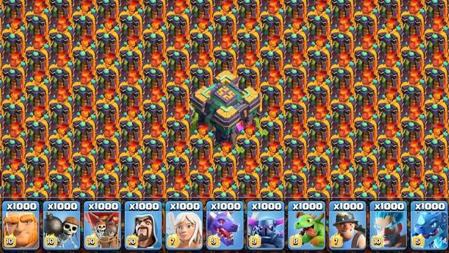 Inferno Tower vs All Troops - Clash of Clans
