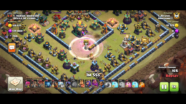 Th13 vs Th14(max) Ring base - Easy 3 star- Clash of Clans