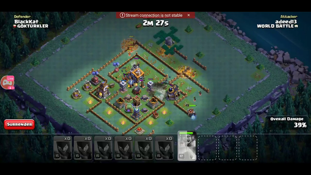 live streaming Clash of Clans war