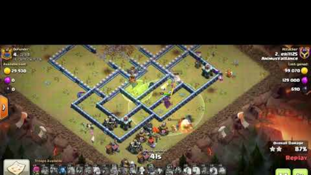 CLASH OF CLANS : TH14 3STARS WAR ATTACK. Ground  ATTACK by : eri1125