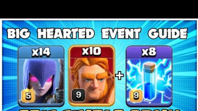 Big Hearted Event ! TH12 Zap WITCH Attack Strategy - TH12 Attack Strategy Clash of Clans Topic