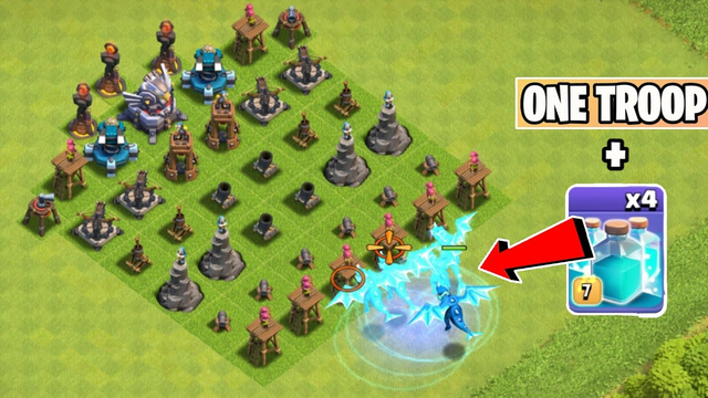 Cloned Troops Vs Level 1 Defenses | One Max Troop Challenge - Clash of clans