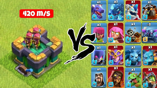 Mini X-bow vs All troops - Clash of Clans