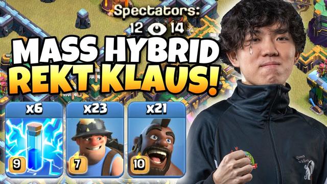 KLAUS got REKT by this ZAP MASS HYBRID! This war was INSANE! Clash of Clans eSports