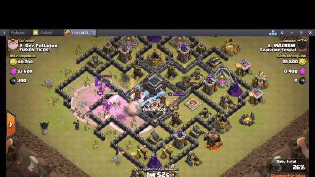 Th9 attack GoHog - Clash of Clans