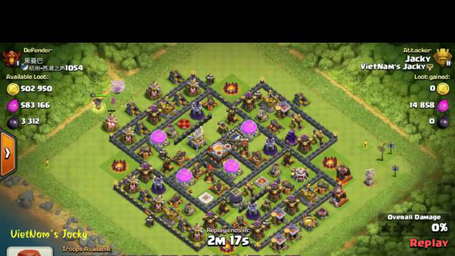 Combo Valkyrie Attack TH11 (134) [VietNam's Jacky] Clash Of Clans