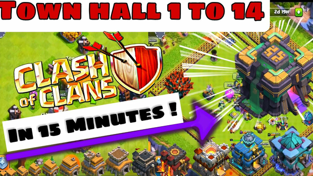 Town Hall 1 to 14 In 15 Minutes ! | COC Private Server