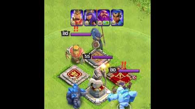 Home Village Hero's VS Pekka Army | Second Battle - Clash of clans