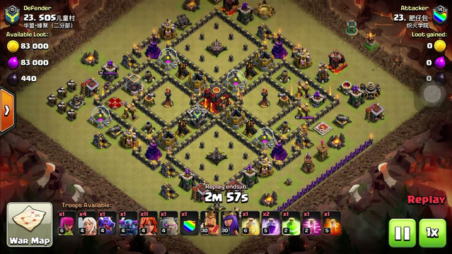 Clash of Clans: One of my luckiest surgical 3 star clan war attack timed perfectly.