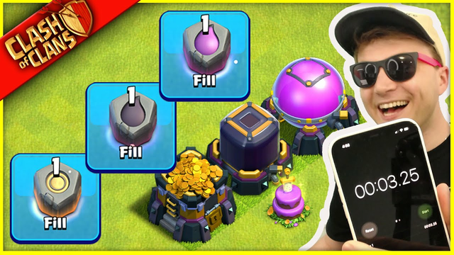 I JUST WOKE UP AND SPENT EVERY RUNE IN CLASH OF CLANS... IN 3 SECONDS. (MAX LOOT SPEED RUN!)