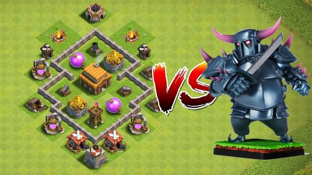 1 PEKKA vs TH 3 | is one PEKKA enough? Clash of Clans