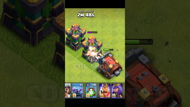 wall wrecker vs archer tower clash of clans #shorts #cocshorts