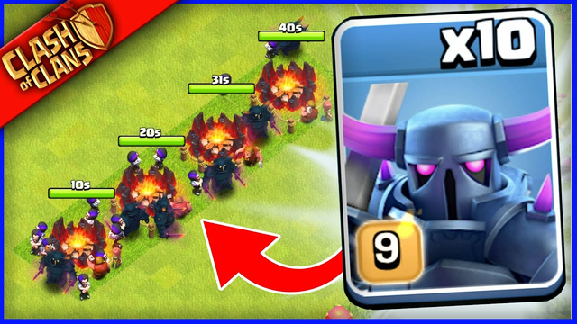 MASS PEKKAS vs THE WORST BASE IN CLASH OF CLANS