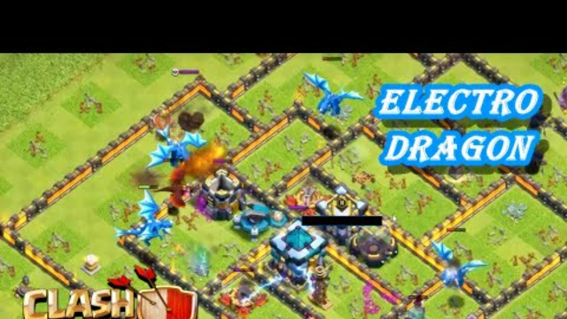 CLASH OF CLANS - ELECTRO DRAGON(4) ATTACK - DSN GOT 1 STAR (97%) - IF I HAD MY KING & QUEEN