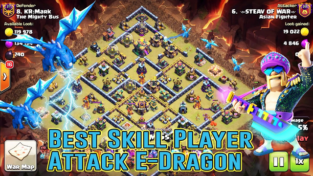 WOW!! BEST ELECTRO DRAGON ATTACK SKILL DESTROY 3-STAR IN TH14 ( Clash of Clans )