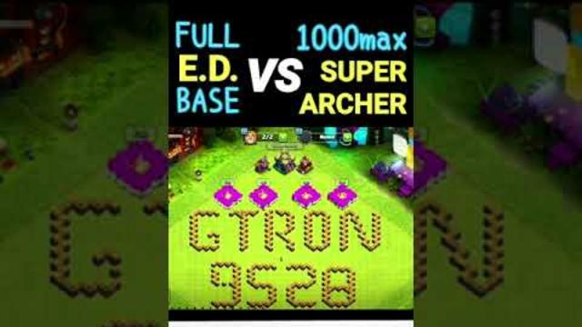 FULL ELECTRO DRAGON BASE VS SUPER ARCHER | CLASH OF CLANS, COC #youtubeshorts #short #coc