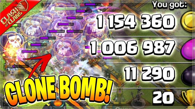 CLONE BOMBING MY WAY TO HUGE LOOT! (Clash of Clans)