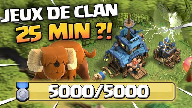 5000 POINTS DES JEUX DE CLAN LE PLUS VITE POSSIBLE ! Clash of Clans