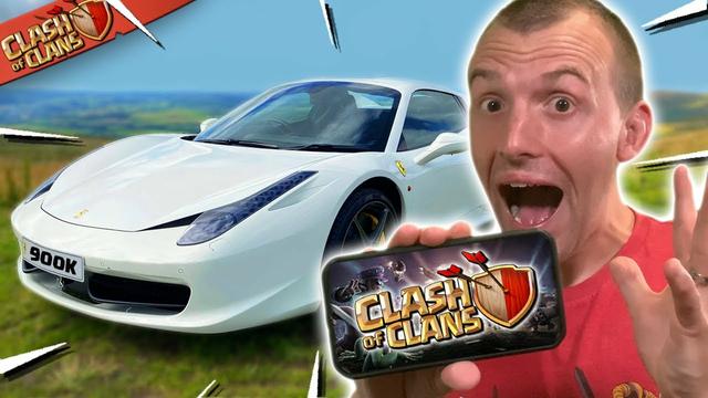 I Played Clash of Clans in a Ferrari