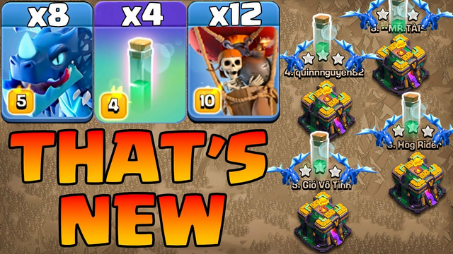That's New Electro Dragon Attack With Invisibility Spell !! Th14 Attack Strategy Clash Of Clans